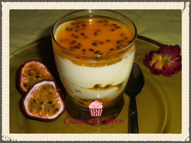 cucinapergioco dessert al frutto della passione