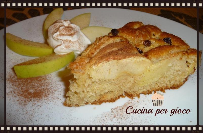 cucinapergioco torta di mele tirolese
