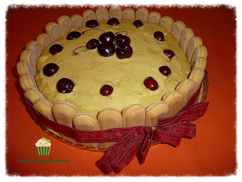 cucinapergioco torta con crema chantilly e ciliege di marostica