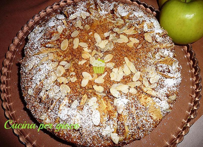 cucinapergioco torta di mele e amaretti