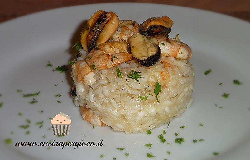cucinapergioco risotto cozze e gamberi