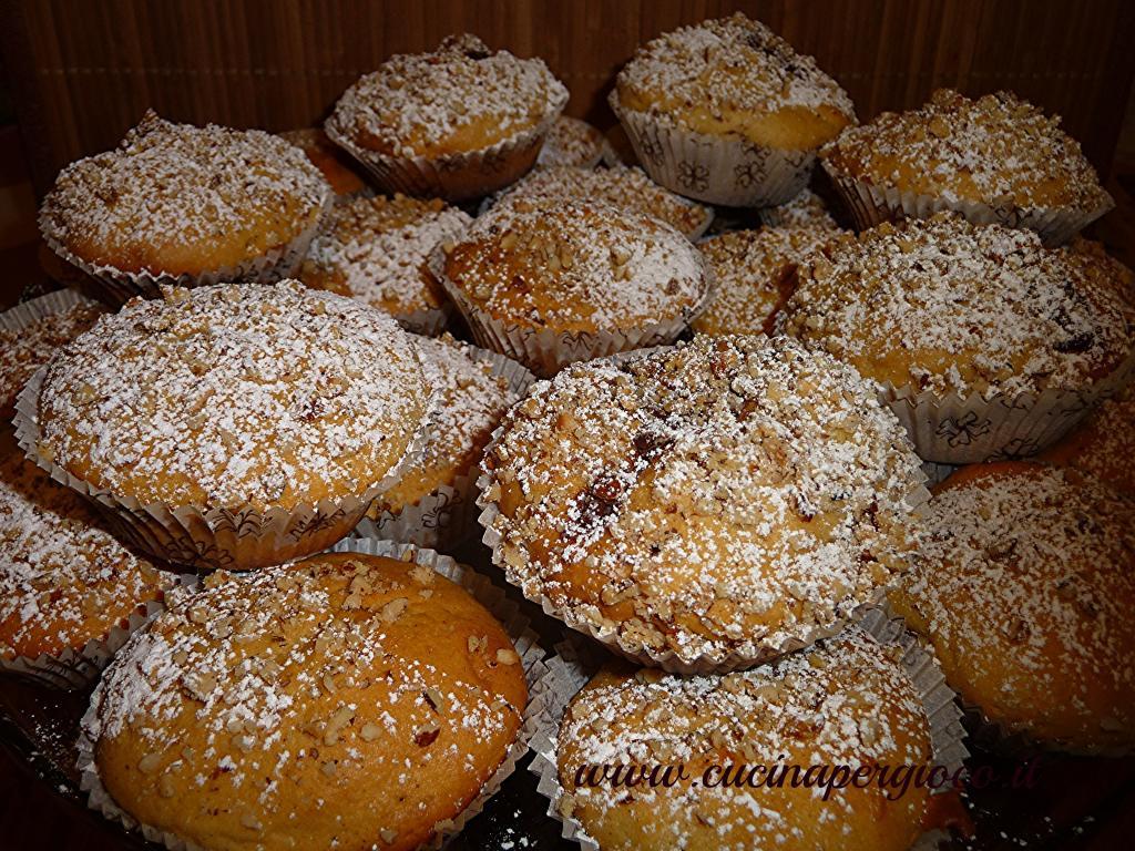 muffin con crema di nocciole